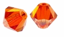 Red Magma 5328 4mm Swarovski Crystal XILION Bicone Beads (10PK)