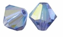 Tanzanite AB 5328 4mm Swarovski Crystal XILION Bicone Beads(10PK)