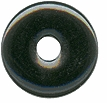25mm Black Onyx Gemstone Donut (1pc)