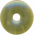 25mm Olive Jade Gemstone Donut (1pc)