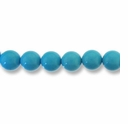 4mm Round Light Blue (Chalk)Turquoise Beads 16 inch Strand