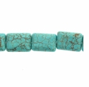 Turquoise Light Blue 10x14mm Pillow Beads 16 inch Strand