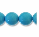 Turquoise 10mm Round Light Blue Beads 16 inch Strand