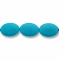 Turquoise 7x18 Ovals Light Blue Beads 16 inch Strand