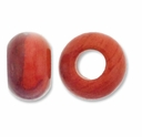 Red Stone Large Hole Gemstone Rondelle12x8mm (2PK)