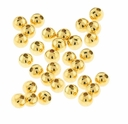 Gold Plated 2.5mm Round Beads (50PK)