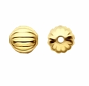 Gold Plated 5mm Corrugated Round Beads (50PK)