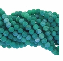 6mm Green Efflorescence Agate Round Beads 14 inch Strand