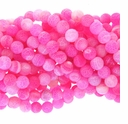 8mm Pink Efflorescence Agate Round Beads 14 inch Strand