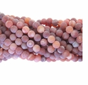 6mm Natural Red Efflorescence Agate Round Beads 14 inch Strand