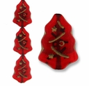 Czech Christmas Trees 17mm Ruby (12 PK)