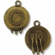 Antiqued Brass Dinner Plate Charm
