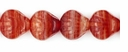Czech Hurricane Glass Sea Shell 9mm Red/White (25PK)