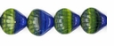 Czech Hurricane Glass Sea Shell 9mm Green/Blue (25PK)