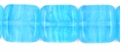 Czech Hurricane Glass 9mm Flat Square Lt. Blue (25PK)