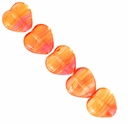 Czech Hurricane Glass Golden Berry 6mm Heart Bead (25PK)