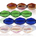 Majestic Crystal� Faceted 6x8mm Oval Crystal Beads