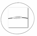 Black Color Coated Steel Cable 18� Necklace (1PC)
