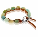 Amazonite and Suede Bracelet Design Kit