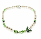 Peridot and Pearls Butterfly Necklace Design Kit
