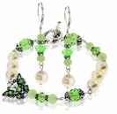 Peridot and Pearls Bracelet & Earring Design Kit