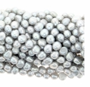 Silver Baroque Potato Freshwater Pearl 5-6mm Bead Strand