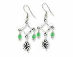 Antique Silver St. Patrick's Day Earring Design