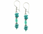 Turquoise Chips Earrings