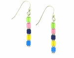 Crystal Cube Dangle Earrings
