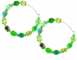 Spring Green 24mm Hoop Earrings