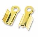 Gold Plated Fold Over Crimp Connecter (10PK)