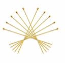 Gold Plated 1 1/2 Inch Ball End Head Pin (10PK)