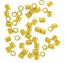Gold Plated 2x2mm Crimp Beads (50PK)