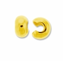 Gold Plated 3mm Crimp Cover (100PK)