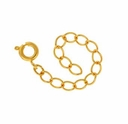 Gold Plated 2 Inch Exention Chain w/Spring Ring (10PK)