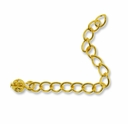 Gold Plated 2 Inch Extension Chain w/Filigree Ball (10PK)