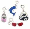 Sterling Silver Enameled Charms