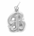 Sterling Silver Initial Letter A thru Z Charms