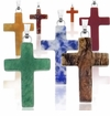 Gemstone Cross Pendants