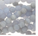 6mm Blue Lace Agate (IM) Round Beads 16 inch Strand