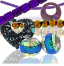 Dichroic Glass Beads and Pendants