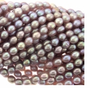 Natural Lavender Rice Freshwater Pearl 5-7mm Bead Strand