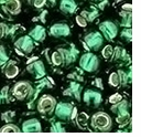 TOHO 8/0 Seed Bead:  Silver-Lined Green Emerald (10g)