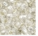 TOHO 8/0 Seed Bead:  Silver-Lined Crystal (10g)