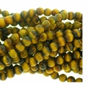 4mm Tiger Eye Round Beads 16 inch Strand