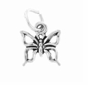 Mini Butterfly Sterling Silver Charm