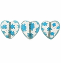 Millefiori Puffed Heart Glass Beads