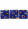 Millefiori Puffed Square Glass Beads