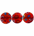 Millefiori Puffed Button Glass Beads