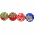Millefiori Round Glass Beads